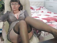 Stockings Mature Mom tits
