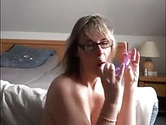 Amateur big-tits Dildo Homemade