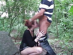Outdoor Homemade handjob Blowjob