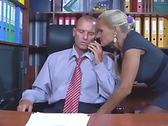 Blonde Mature Mom Office