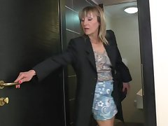 Blonde Mature Oil Toilet