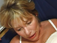 Anal Blonde French Granny