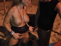 Beach big-tits Bisexual Blowjob