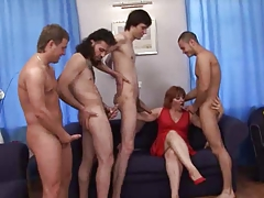 double-penetration Gangbang Group Mom