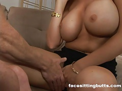 Big Ass big-tits facesitting Milf