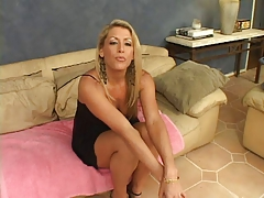 Blonde Casting hardcore Mature