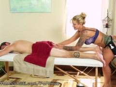 Big Ass big-tits Blonde Massage