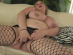 Bbw big-tits Blonde Lingerie