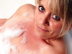 Blonde handjob Masturbation Mature
