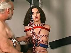 Bdsm Bondage Couple handjob
