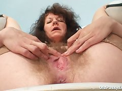 Brunette Close Up Hairy Mature