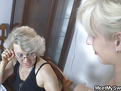 Couple Mature Mom Old And Young (18+)