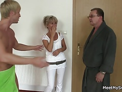 Blonde Couple Mature Mom