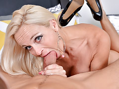 Blonde cock hardcore Mature